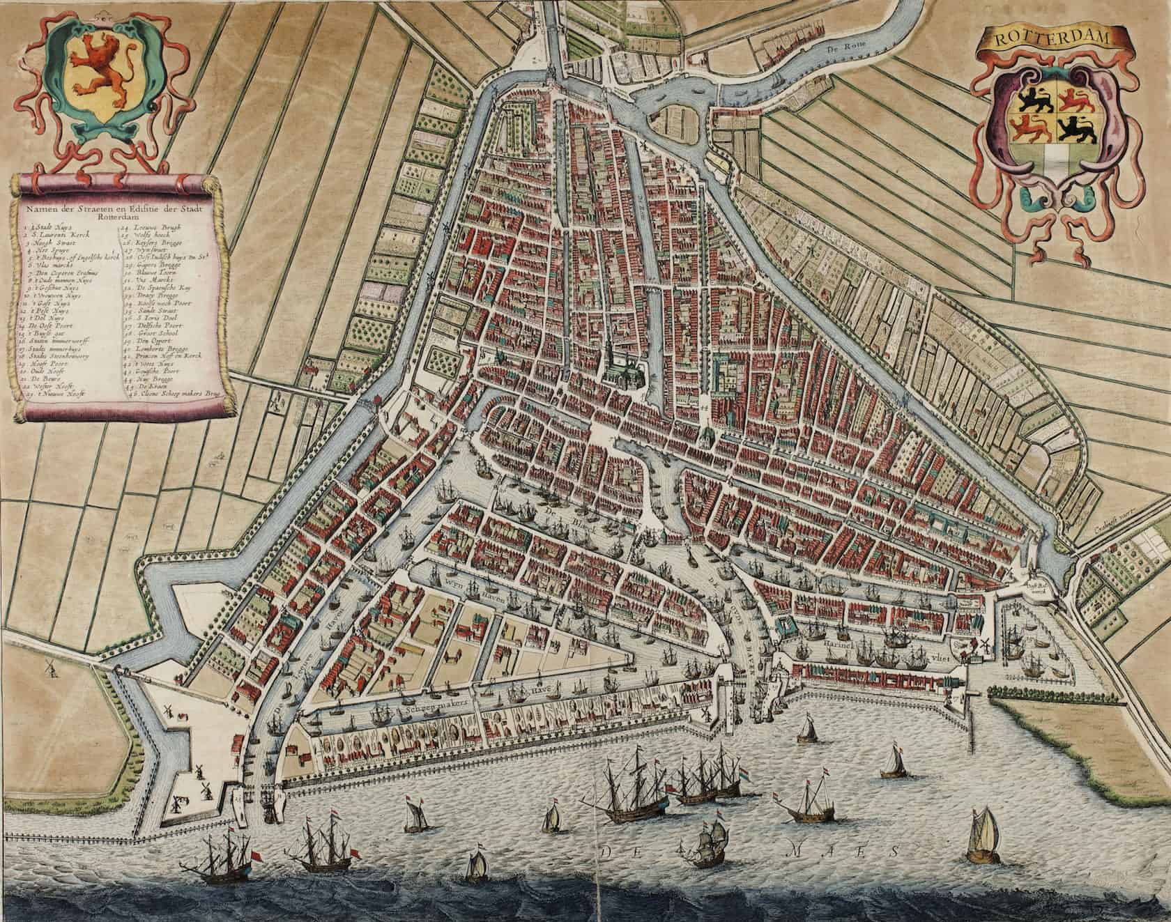 Old Rotterdam map - Baron Vermouth